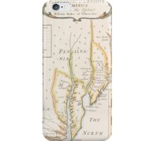 Historic Map of North america iPhone Case/Skin
