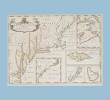 Historic Map of North america One Piece - Short Sleeve