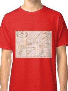 Historic Map of North america Classic T-Shirt