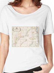 Historic Map of North america Women's Relaxed Fit T-Shirt