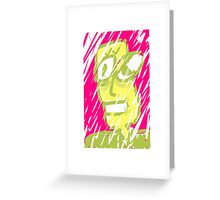 Snowstorm dude. Greeting Card
