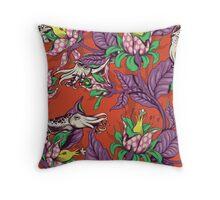 The Sea Garden - retro pop Throw Pillow