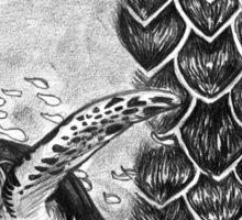 Hawksbill Turtle with Shell Pattern Sticker