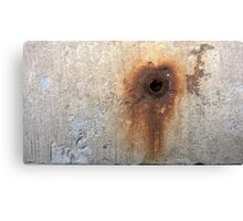 hole with rust Canvas Print