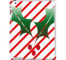 Candy Cane Stripes n Holly iPad Case/Skin