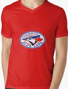 blue jays logo Mens V-Neck T-Shirt