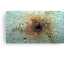 hole with rust 2 Canvas Print