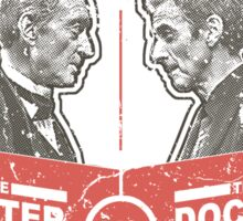 Doctor vs. Master Dr. Who Quote Sticker