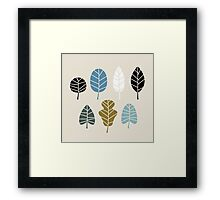 Autumn leaves silhouettes { simple + beautiful } Framed Print