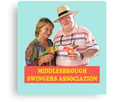 BENIDORM MIDDLESBROUGH SWINGERS ASSOCIATION CULT BRITISH TV Canvas Print