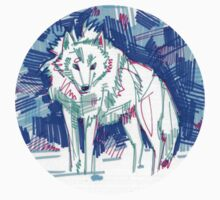 Arctic wolf drawing - 2011 Kids Tee