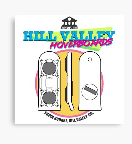Hill Valley Hoverboards Canvas Print