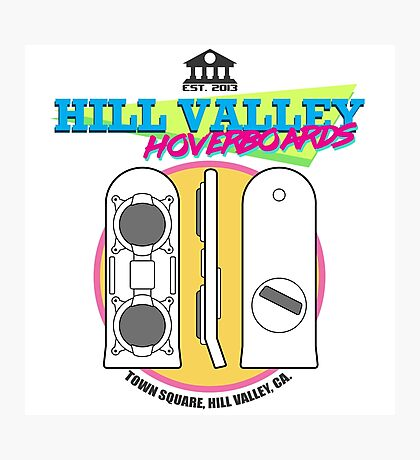 Hill Valley Hoverboards Photographic Print