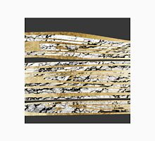 Modern Black White Marble with Faux Gold Stripes Women's Fitted V-Neck T-Shirt