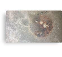 concrete rust circle Canvas Print