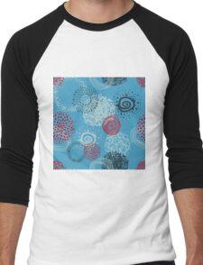 circles abstract seamless pattern Men's Baseball ¾ T-Shirt