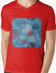 circles abstract seamless pattern Mens V-Neck T-Shirt