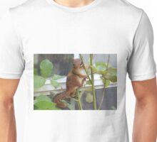 Chipmunk in a Rosebush Unisex T-Shirt