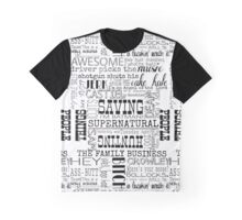 Supernatural- Quotes Graphic T-Shirt