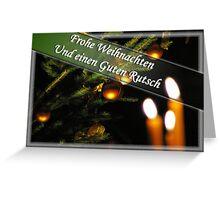 Weihnachtskarte Deutsch Greeting Card