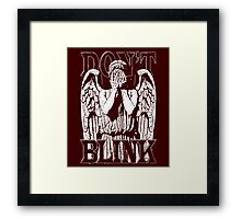 Weeping Angel Dr. Who Quote Framed Print