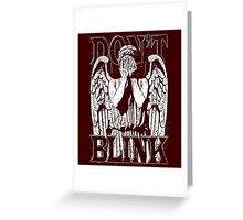 Weeping Angel Dr. Who Quote Greeting Card