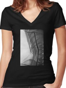 Corset X-Ray Women's Fitted V-Neck T-Shirt