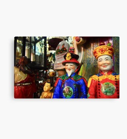 two Chinese in a shop... Canvas Print