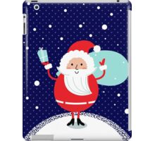 Happy Santa Illustration for christmas card iPad Case/Skin