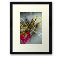 Color your life Framed Print