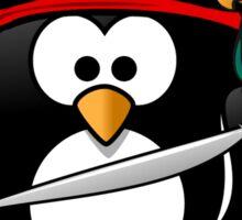 Pirate Penguin at Sea Sticker