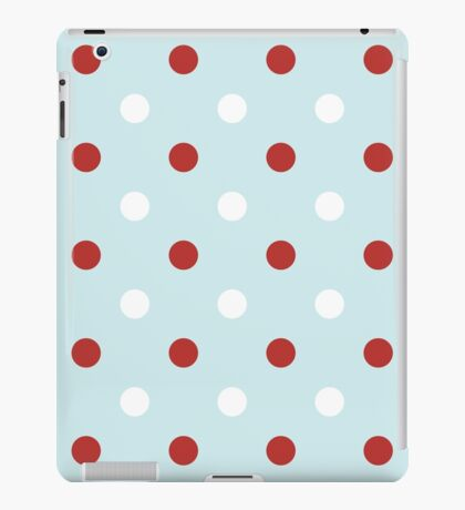Vintage seamless xmas pattern with Polka dots iPad Case/Skin