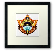 Gallifrey Timelords Sports Logo Framed Print