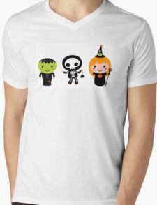 Happy Kids in Halloween costumes Mens V-Neck T-Shirt