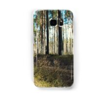 turn field road between the trees in the spring forest Samsung Galaxy Case/Skin