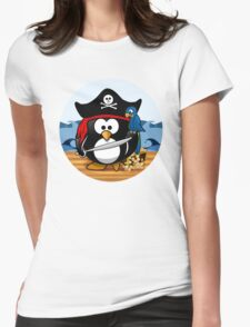 Pirate Penguin with Treasure Chest T-Shirt