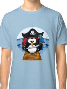 Pirate Penguin at Sea Classic T-Shirt