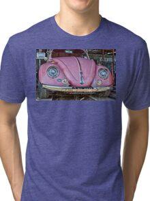 Pink volkswagen beetle Tri-blend T-Shirt