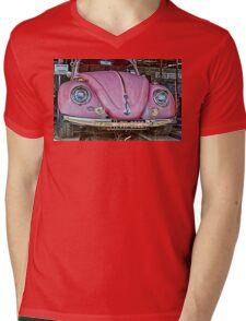 Pink volkswagen beetle Mens V-Neck T-Shirt