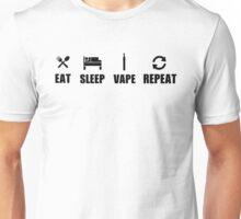 Eat sleep vape repeat Unisex T-Shirt