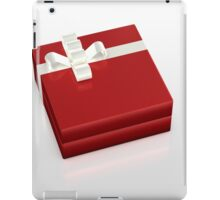 red gift box with white ribbon iPad Case/Skin