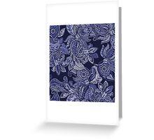 Paisley Dream - indigo Greeting Card