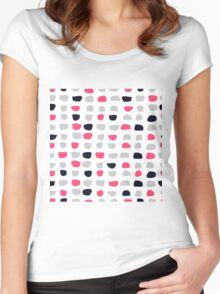 Textured Brush Stroke Women's Fitted Scoop T-Shirt
