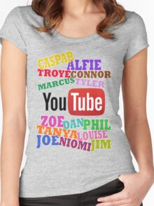 YOUTUBE STARS Women's Fitted Scoop T-Shirt