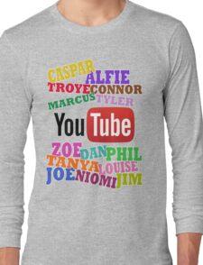 YOUTUBE STARS Long Sleeve T-Shirt
