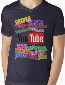YOUTUBE STARS Mens V-Neck T-Shirt