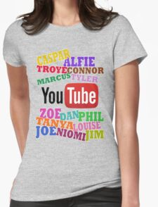 YOUTUBE STARS Womens Fitted T-Shirt