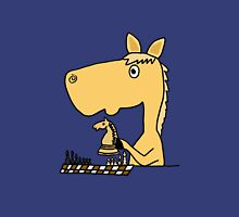 Coo Funny Horse Playing Chess Artwork Unisex T-Shirt