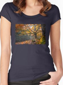 Autumnal oak Women's Fitted Scoop T-Shirt
