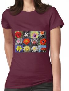 Love Flowers Womens Fitted T-Shirt